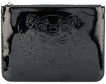 Kenzo - Borsa clutch 'Tiger' - women - Cotton/Leather/Nylon/Polyurethane - OS - BLACK