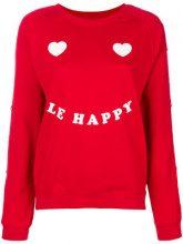 Zoe Karssen - Maglione 'Le Happy' - women - Cotton/Polyester - XS, S - RED