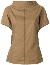 Marni - Blusa con colletto rigido - women - Cotone - 38, 42 - Marrone