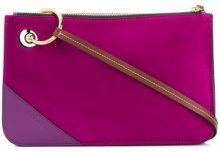 JW Anderson - Pierce clutch - women - Calf Leather/Suede - One Size - PINK & PURPLE