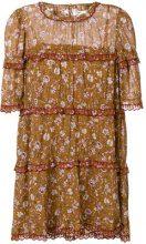 Isabel Marant Étoile - floral print dress - women - Cotone/Viscose - 40 - Marrone