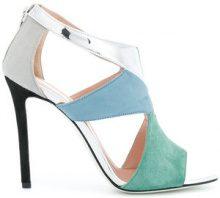 Pollini - colour block sandals - women - Leather - 36, 37, 37.5, 38.5 - BLUE