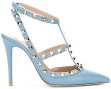 Valentino - Pumps 'Rockstud' - women - Calf Leather/Leather - 35, 35.5, 36, 36.5, 37.5, 38, 39, 40.5, 41 - BLUE