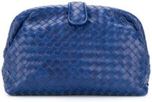 Bottega Veneta - Cobalt blue Intrecciato nappa top the Lauren clutch - women - Lamb Skin - One Size - Blu