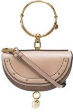 Chloé - Beige Nile mini Minaudiere leather bracelet bag - women - Calf Leather/Leather - One Size - NUDE & NEUTRALS