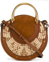 Chloé - Borsa 'Pixie Small' - women - Calf Leather/Viscose - OS - Marrone