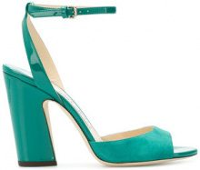 Jimmy Choo - Sandali 'Miranda' - women - Leather/Suede - 38, 39.5, 40 - Verde