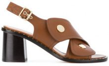 Derek Lam - Sandali con fasce incrociate - women - Leather - 37, 38, 38.5, 39, 40, 41 - BROWN