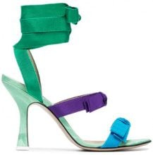 Attico - Sandali 'Diletta' - women - Leather/Polyester - 37, 38, 40, 41, 36, 37.5, 38.5, 39 - GREEN