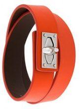 Givenchy - 'Shark' bracelet - women - Calf Leather - S, M - YELLOW & ORANGE
