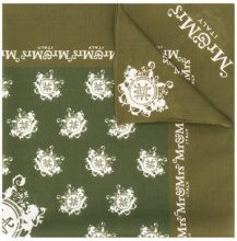 Mr & Mrs Italy - logo square scarf - women - Cotone - OS - Verde