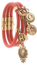 Chloé - gold-tone embellished bracelets - women - Calf Leather/Brass - S, M - Giallo & arancio
