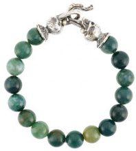 Emanuele Bicocchi - skull beaded bracelet - women - Pietra/Sterling Silver - XS, M - GREEN