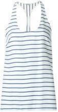 Tufi Duek - racerback striped top - women - Silk/Viscose - 36, 44 - BLUE
