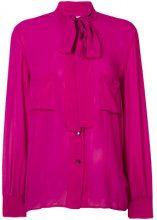 Golden Goose Deluxe Brand - Blusa 'Chicago' - women - Silk - S - PINK & PURPLE