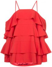 Strateas Carlucci - frill tiered mini dress - women - Polyester - XS - RED