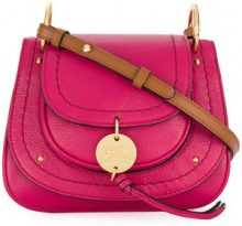 See By Chloé - Susie shoulder bag - women - Leather/Cotton - OS - PINK & PURPLE