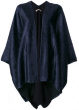 Ermanno Gallamini - Mantello svasato - women - Alpaca/Virgin Wool - OS - BLUE