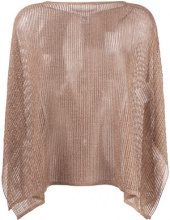 M Missoni - lurex cape jumper - women - Polyamide/Polyester/Viscose/Metallic Fibre - OS - Marrone