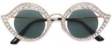 Gucci Eyewear - Occhiali da sole cat-eye - women - Acetate - 41 - Metallizzato