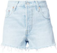 - Levi's - Pantaloni corti denim con orlo a frange - women - Cotone - 29 - Blu