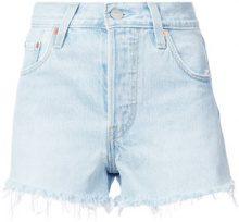 Levi's - Pantaloni corti denim con orlo a frange - women - Cotton - 24, 25, 26, 27, 28, 29 - BLUE
