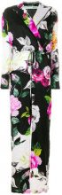 Off-White - floral print jumpsuit - women - Silk/Cotton - 36, 40, 42, 38 - BLACK
