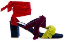 Gia Couture - Sandali con nodo alla caviglia - women - Velvet/Leather - 36, 37, 39, 41 - GREEN