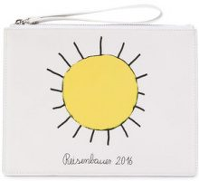 Christopher Kane - Borsa Clutch - women - Calf Leather/Cotton - OS - WHITE