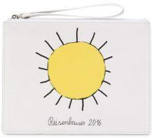 Christopher Kane - Borsa Clutch - women - Calf Leather/Cotton - OS - WHITE