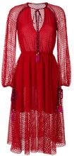 Philosophy Di Lorenzo Serafini - braided tie lace dress - women - Polyester - 40, 42, 44, 46, 38 - RED