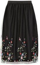 Tall Kara Mesh Embroidered Midi Skirt