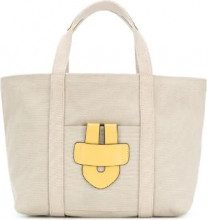 Tila March - Borsa tote 'Simple Bag S' - women - Cotton/Calf Leather - OS - NUDE & NEUTRALS