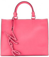 Karl Lagerfeld - Borsa Shopper 'K/Signature Essential' - women - Leather - One Size - PINK & PURPLE