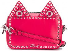 Karl Lagerfeld - Camera bag 'K/Rocky Choupette' - women - Leather - One Size - PINK & PURPLE