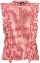 VERO MODA Frills Sleeveless Shirt Women Red