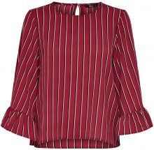 ONLY Frill 3/4 Sleeved Top Women Red