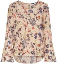 ONLY Printed Long Sleeved Top Women Beige