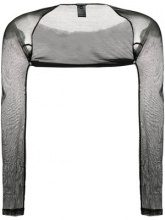 Ann Demeulemeester - transparent style top - women - Cotton - 36, 38, 40 - BLACK