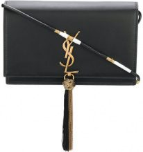 Saint Laurent - Clutch con tracolla 'Kate' - women - Calf Leather - One Size - Nero