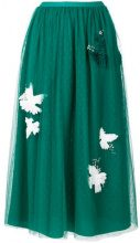 Red Valentino - embellished layer skirt - women - Polyester - 40, 42, 36, 38, 44 - GREEN