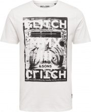 ONLY & SONS Printed T-shirt Men White