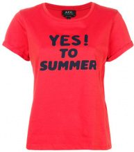 A.P.C. - T-shirt con stampa 'Yes' - women - Cotton - XS, S, M, L - RED