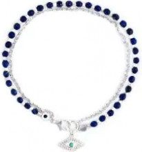 Astley Clarke - 'Evil Eye Biography' bracelet - women - Sterling Silver/Turquoise/Lapis Lazuli/Sapphire - OS - BLUE