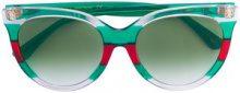 Gucci Eyewear - Occhiali da sole tricolore - women - Acetate - OS - GREEN