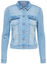 ONLY Short Denim Jacket Women Blue