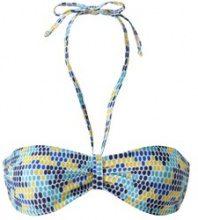 Reggiseno per bikini a fascia a pois multicolore