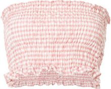 N Duo - checkered top - women - Cotton - 36 - PINK & PURPLE