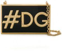 Dolce & Gabbana - #DG box clutch - women - Acetate/metal - One Size - BLACK