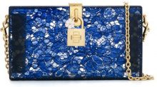 Dolce & Gabbana - lace clutch bag - women - Acrylic - OS - Blu